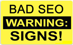 SEO warning signs