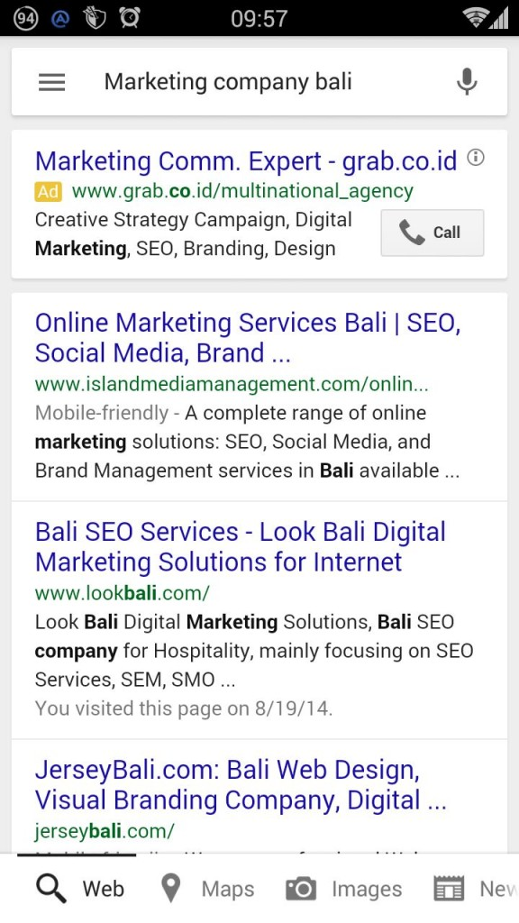 Mobile friendly website is highlighted in Google searches