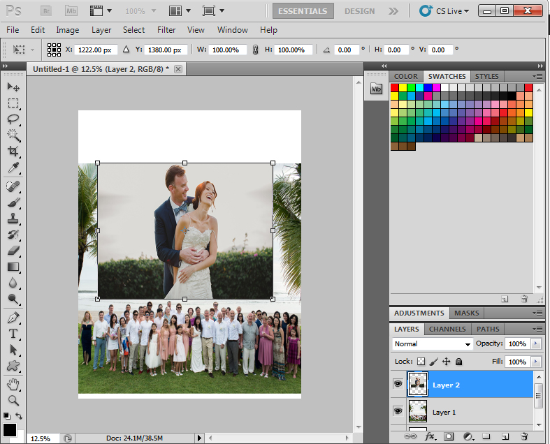 step 3 - blending photos photoshop