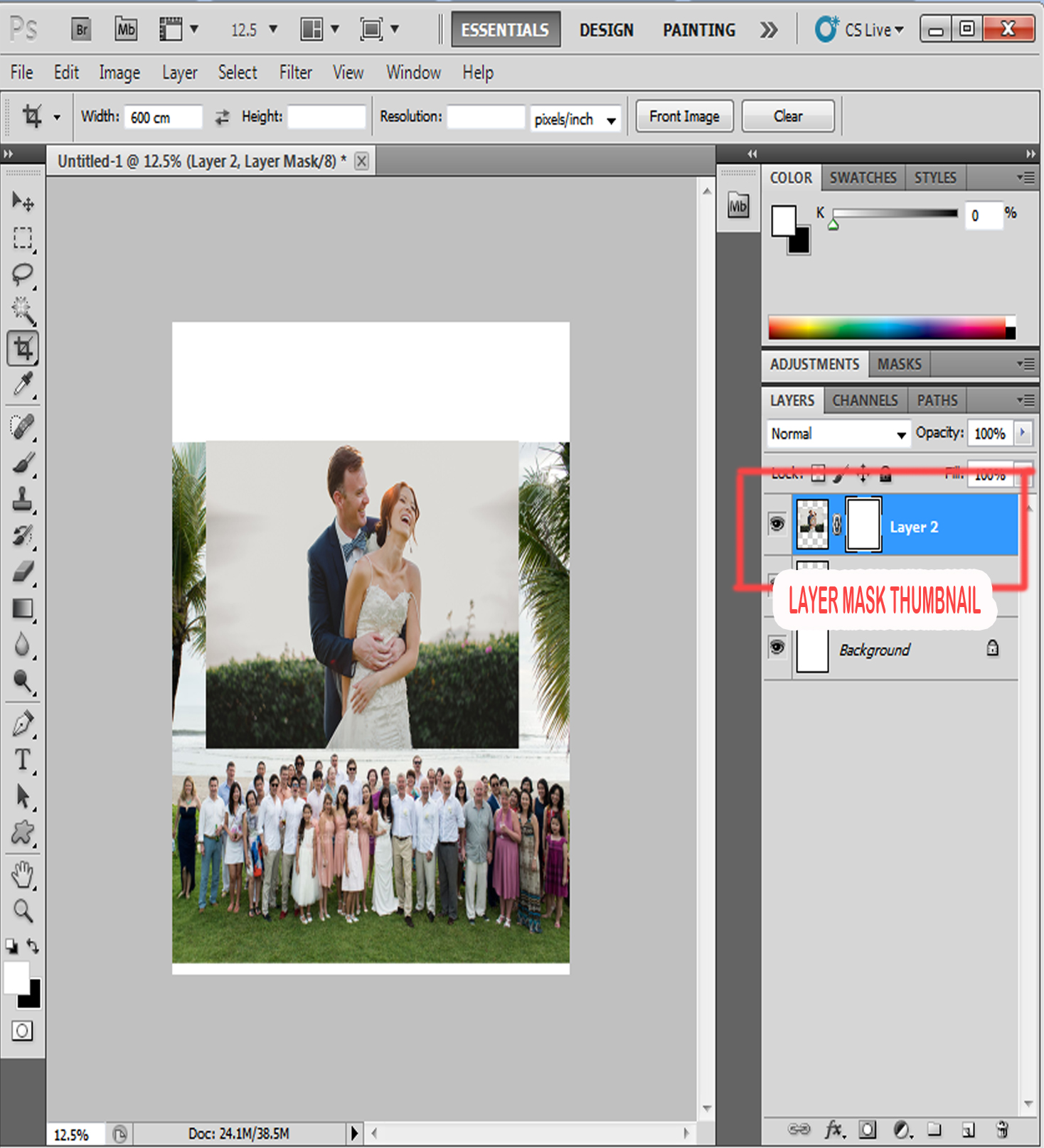 step 4 - blending pictures photoshop