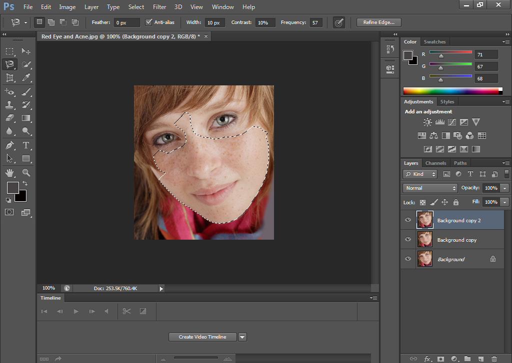 Make Selection in Photoshop