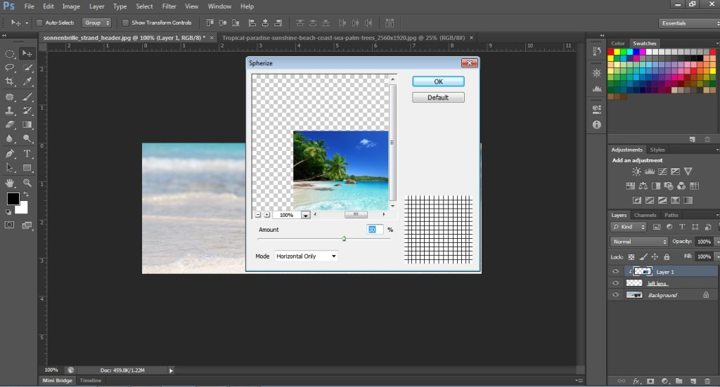 Apply Spherize Filter