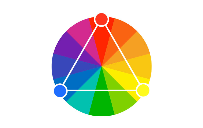 Triadic as one of the color schemes