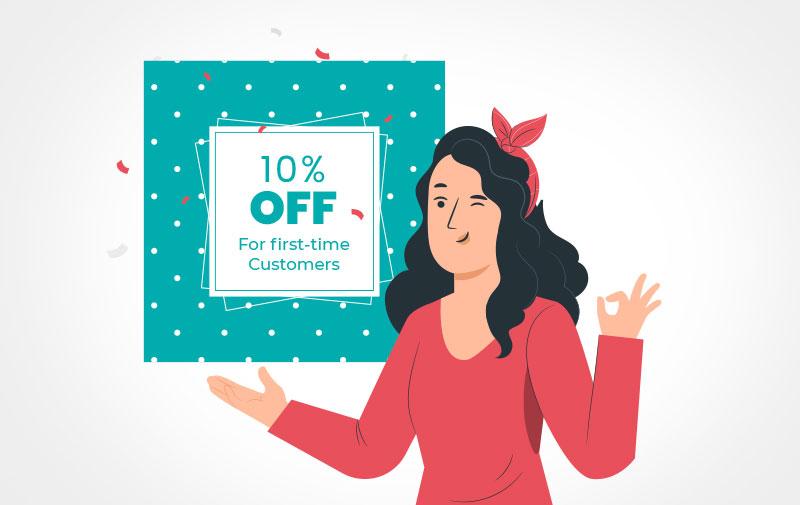 First-timer discount