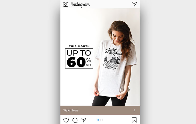 Instagram ads with carousel ads as the ad creatives